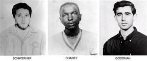 Chaney, Goodman and Schwerner were reported missing and later found dead in an earthen dam. They were shot and buried by members of the Ku Klux Klan.