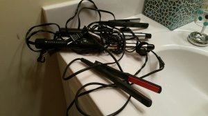 I packed away my curling and flat irons recently.